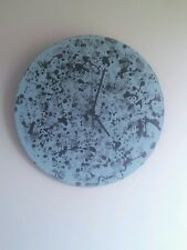 Black and pale blue  vinyl quartz clock.Handmade. Modern/ funky.