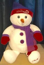 Tesco Chilly Large 22 Inch Christmas Snowman Plush / Soft Toy Dated 1999