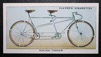 Racing Tandem Bicycle     Original 1930's Vintage Card    CAT A