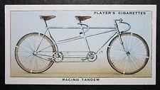 Racing Tandem Bicycle     Original 1930's Vintage Card