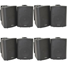 "8x 120w schwarz Wandmontage Stereo Lautsprecher –6.5"" 8 Ohm – Premium Home Audio Musik"