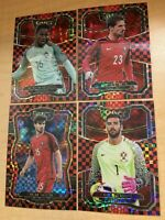 PORTUGAL 2017 18 PANINI SELECT CHECKERBOARD PRIZM REFRACTOR SP LOT OF (4)