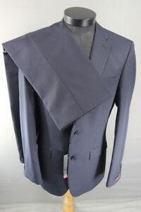 PIERRE CARDIN WOOL BLEND NAVY BLUE PINSTRIPED SUIT CHEST 38/WAIST 32IN: RRP £249