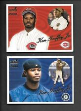 KEN GRIFFEY JR 2000 AURORA #'S 133A, 133B MARINERS/REDS FREE COMBINED S/H