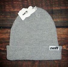 43b43984717 MENS NEFF GRAY HEATHER BEANIE HAT ONE SIZE