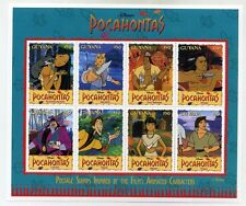 Disney Stamps Sheet : Pocahontas Animated Film characters  sheetlet