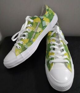 """Converse All Star Low Top """"Greenhouse"""" Shoes Size M 8.5 W 10.5"""