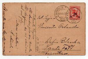 1920 FINLAND TO ARGENTINA ESPERANTO COVER, BILLS POSTCARD, SCARCE !!