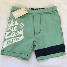 Diesel Mosito 6m Infant Baby Boys Green Swim Shorts BNWT Swimming Trunks Wear s