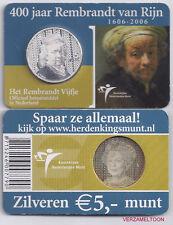 "NEDERLAND 5 EURO  2006: ""HET REMBRANDT VIJFJE"" IN COINCARD"