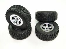 Traxxas 1/10 2wd Slash Kumho Tires & 12mm Silver Wheels /VXL XL5 Raptor SC10 4wd