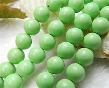 8mm Apple Green Turquoise Gemstone Round Loose Bead 15''##CH316