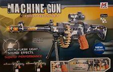 AK-47 MACHINE GUN WITH FLASHING LIGHT, FIRING SOUND + ROTARY BULLETS -  25-INCH