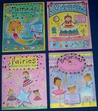 Lot of  4  NEW  Little Girls Sticker Books - Darling Art! -  FREE  S/H  Offer