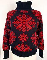 Vtg Transformer Women's Sweater M Med Turtleneck Winter Christmas Holiday Ski