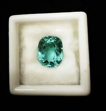 6.45ct.12x10mm. RARE! CUSHION NEON BLUE PARAIBA TOURMALINE CREATE AAA+