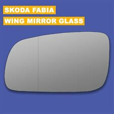 For Skoda Fabia 99-07 Left side Aspheric Electric wing mirror glass with plate