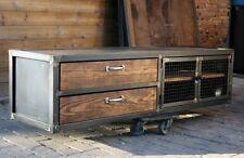 Meuble télévision style industriel bois et mètal meuble industriel