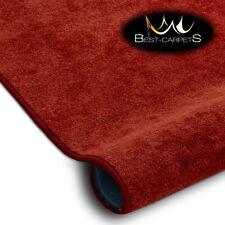 Best Carpets Hardwearing Soft SERENADE red Stain Resistant Stairs Rugs
