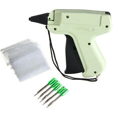 Tagging Gun +5 Steel Needle +1000 Tag Label System Barbs for Garment Clothes FZE