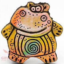 Fridge magnet of hippo or hippopotamus souvenir handmade & hand-painted