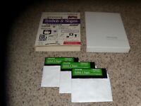 "Symbols & Slogans Apple IIe, IIc IIGS 5.25"" disk with box"