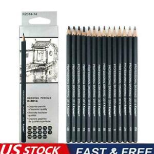 14X Sketch Art Drawing Pencil Set 12B 10B 8B 7B 6B 5B 2B 1B M0G6 3B S6M5 4H Z8A8