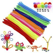 New 100x Chenille Craft Stems Pipe Cleaners Educational Toys Twisting Rods Kids