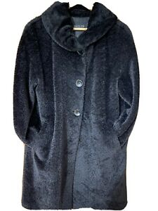 ladies black coat size 12 Basler Made In Italy