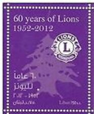 LEBANON- LIBAN MNH SC# 688 60TH. ANNIV. LION'S CLUB 1952-2012 LEBANON
