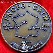 MED3051 - MEDAILLE PRISONNIERS DE GUERRE FNCPG-CATM 1945-1985