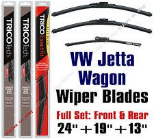 VW Volkswagen Jetta 2009 & 2010 Wiper Blades 3pk Front/Rear 19240/19190/13G