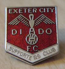 Exeter City FC vintage insignia del club de seguidores Maker Reeves Broche Pin 18mm X 21mm