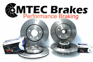 Renault Trafic 01-15 Front Rear Brake Discs MTEC Pads with Bearing ABS Ring