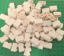 Lego X100 New White 1x2 Brick / Standard Bulk Building Bricks With Two Studs Lot