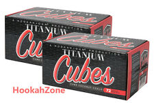 144 HJ Titanium Coconut Coals The CUBE Hookah Charcoal Coco Shisha NARA MAZAYA