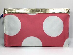 Elizabeth Arden Large Cosmetic Makeup Bag (Pink, White, Blue, gold)