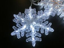 Holiday/Christmas LED Snowflake Lights - Set of Six 9