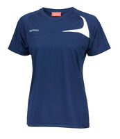 Ladies T-Shirt Top Lightweight Wicking Breathable Quick Dry Run Gym Sports NAVY