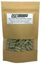 Orgánico Cebada Hierba Vegano Cápsulas,500mg X 100 - Ue Grown - por Dsc