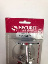 SECURIT CHROMED STAIR STAIRCASE HANDRAIL BRACKET 63MM S2977