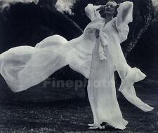1936 Vintage MARTIN MUNKACSI Female Fashion Flowing Woman Dress Photo Art 11x14
