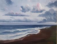 Original Ocean Oil Painting On Canvas Waves Seascape Tropical Beaches 8x10