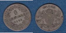 Baden Carl Leopold Friedrich 6 Kreuzer 1848 ca. 2,54 g gebraucht (cc9)