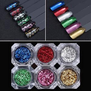 BORN PRETTY Nail Sequins Glitter Paillette Powder Dust Flakes Colorful Irregular
