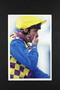 1 x card BBC Question of Sport 1991 Pat Eddery Jokey Horse Racing