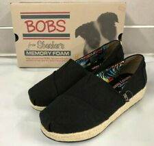 f2c44e2dff5b4 Bobs from Skechers Women's High Jinx Slip On Wedge Shoes 34101/BLACK NEW Sz  6