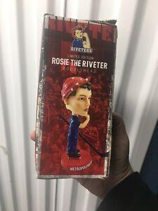 ROSIE THE RIVETER WWII SGA NWHL Women's Hockey Bobblehead 2019 Riveters New York