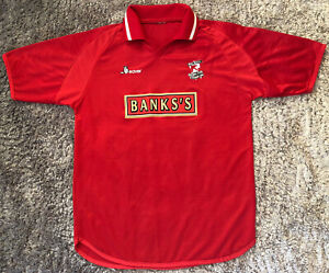 068 Rare Vintage Walsall 2001 Home Soccer Jersey Beaver Saddlers Mens M *Read*