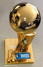 Dirk Nowitzki Signed 2011 Dallas Mavericks Auto Mini NBA Finals Trophy FANATICS